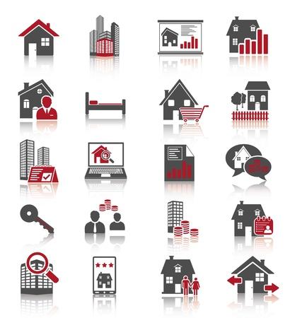 contratos: Real Estate iconos  Vectores