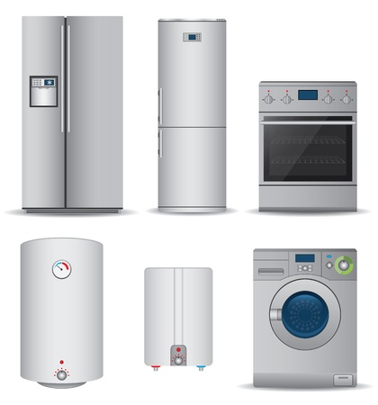 Set of household appliances Vector