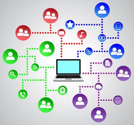 Social network Stock Vector - 20895152