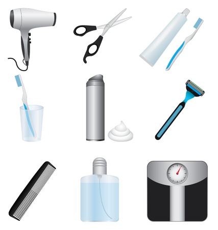 shaver: Body care icons set