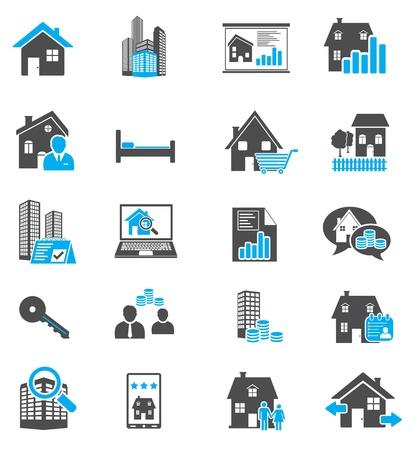 De pictogrammen van onroerende goederen