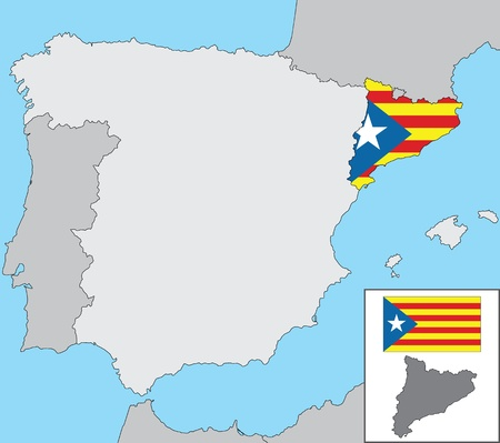 Spain and Catalonia Vector