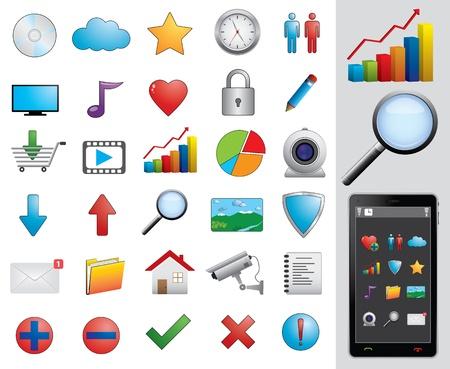 Web icons set Illustration