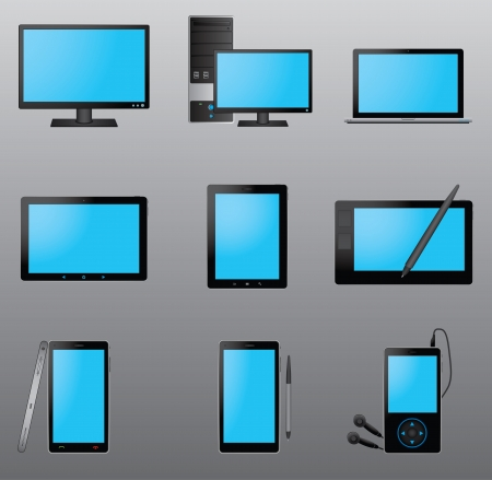 Computer Icon Set Stock Vector - 21220966