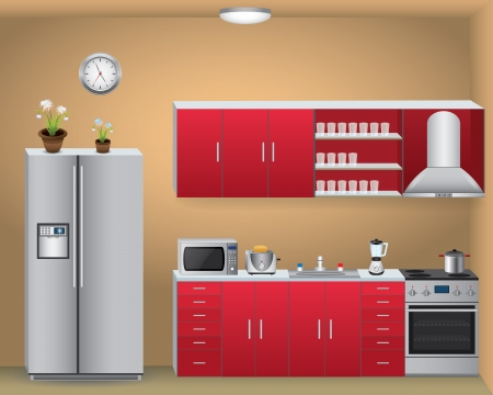 kitchen illustration: Kitchen