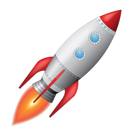 cartoon rocket: Space Rocket