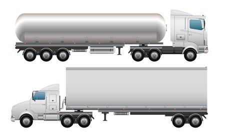 Lading en tankwagen