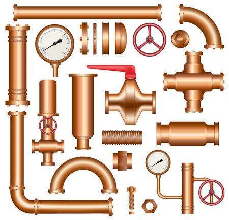 éléments de canalisation en cuivre