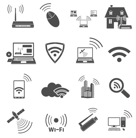 Communication web icons Vector
