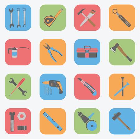 Tools Icons Set - Flat