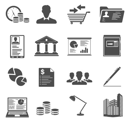Office en Business Icons Stock Illustratie