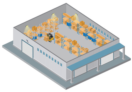 industrial industry: Isometric Warehouse