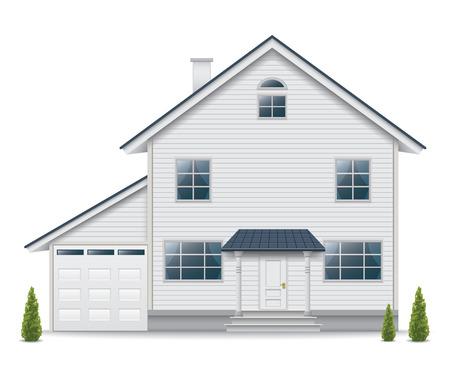 House isolated on white background Ilustracja