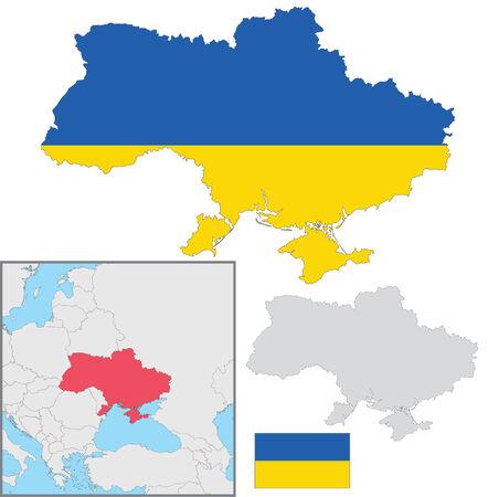 Ukraine map Ilustracja