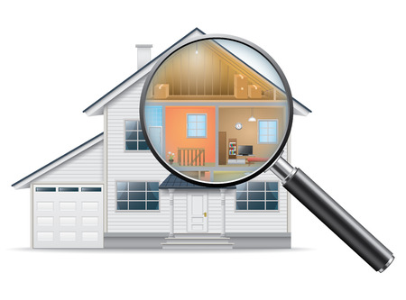 magnifying glass: House Search Illustration