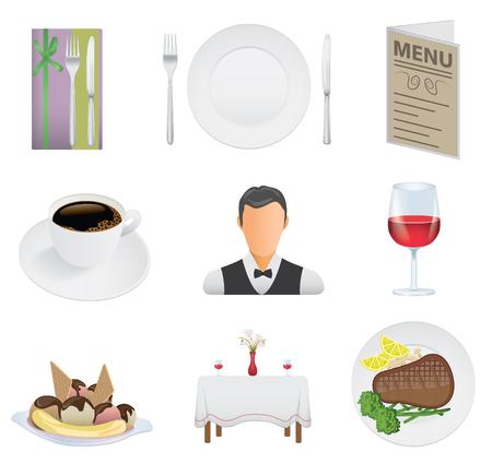 Restaurant icon set