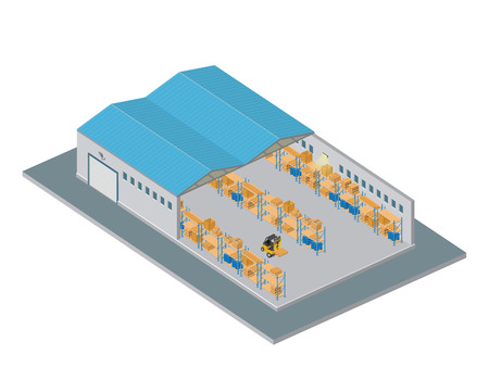 warehouse interior: Isometric Warehouse
