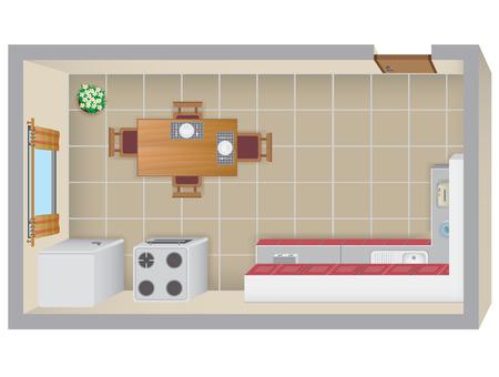 Kitchen Plan Ilustracja