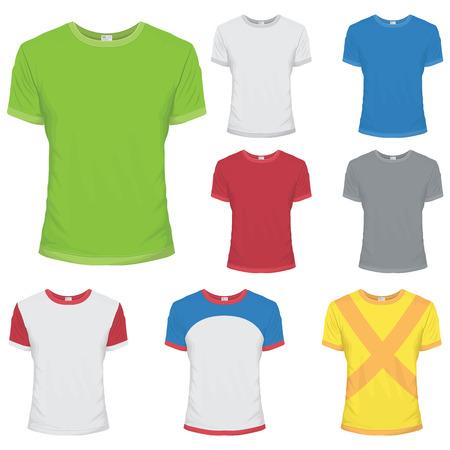 t shirt white: Colored T-shirt