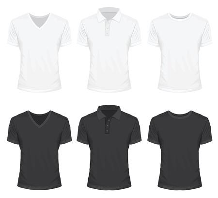 the shirt: Camiseta de Blanco y Negro Color