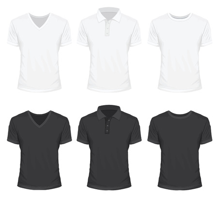 t shirt printing: T-Shirt in White and Black Color Illustration