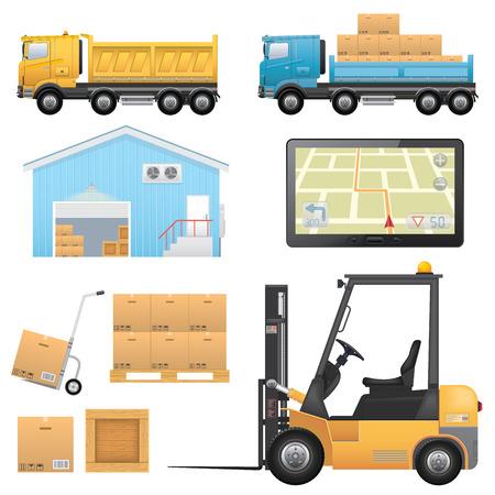 Logistieke Icons Stock Illustratie