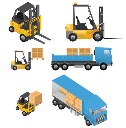 Vector Shipment Icons Illustration