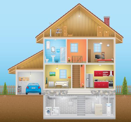 case moderne: Casa Interni Vettoriali