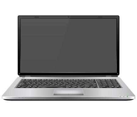 Realistic Vector Laptop