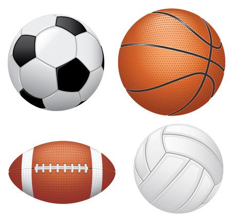 soccer: Sport balls on white background Illustration