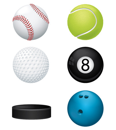 hockey: Sport Balls Illustration