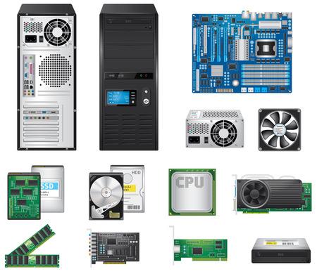computer case: Computer Parts Set
