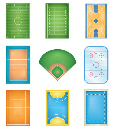 sports field: Sport Courts Illustration
