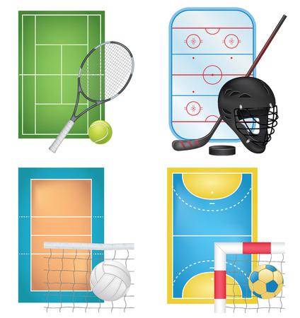 terrain de handball: Sport Icons