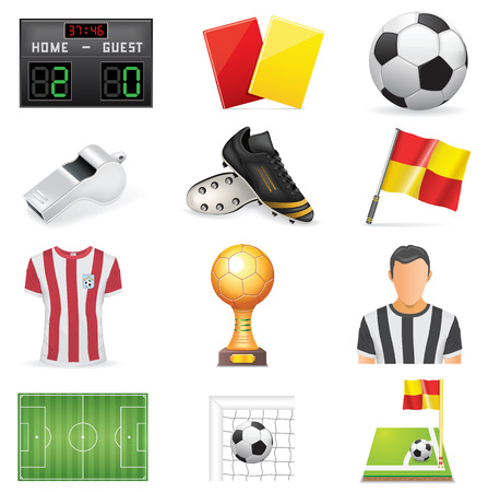 Soccer Icon Set Illustration