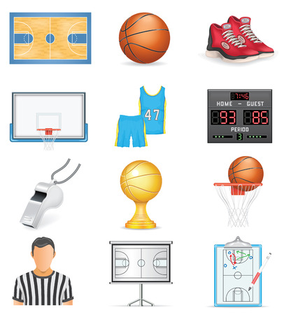 Basketball Icon Set Illustration
