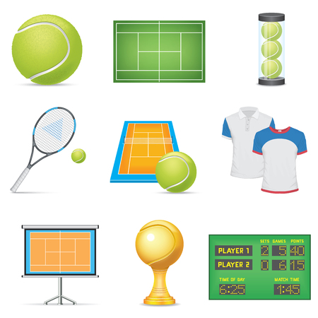 Tennis Icons Set