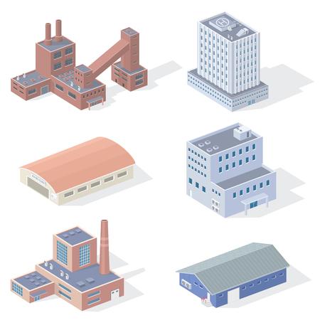 conveyer: Isometric Industrial Buildings