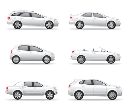 White Cars Set