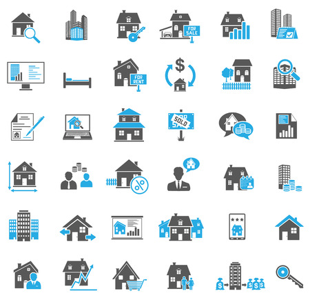real estate icons: Real Estate Icons Set
