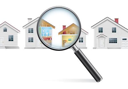 House Search Concept Vettoriali