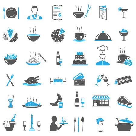 Restaurant Icons Set Stock Illustratie