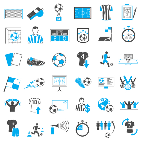 Soccer Icons Set Stock Illustratie