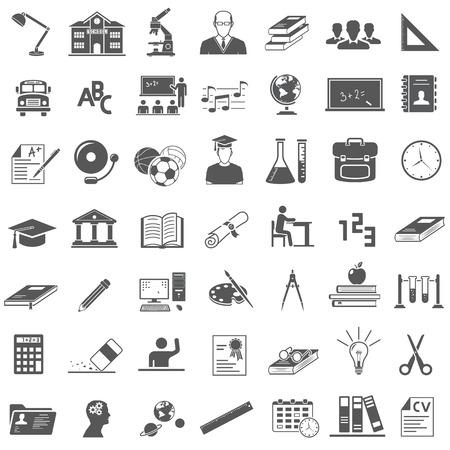 Bildung Icon Set Standard-Bild - 64374003