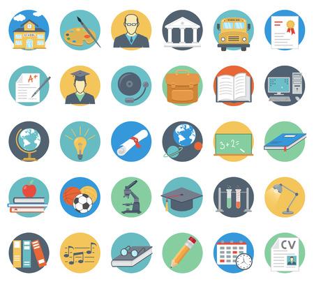 Onderwijs Flat Icons Set