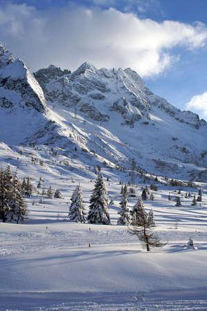 slopes: Ski Mountain, Passo Tonale Stock Photo