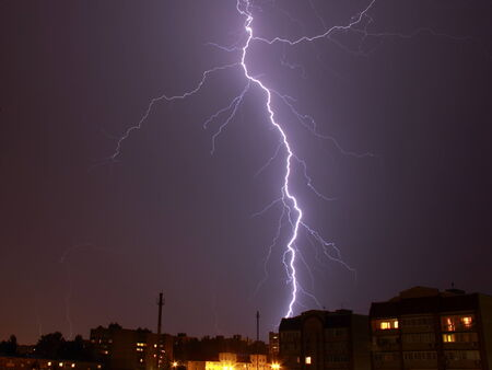 an outburst: lightning in the night