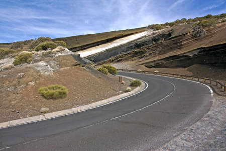 Winding road, El Teide National Park photo