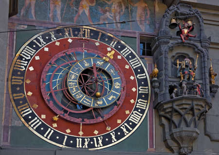 Old medieval astronomical clock in Bern, Switzerland