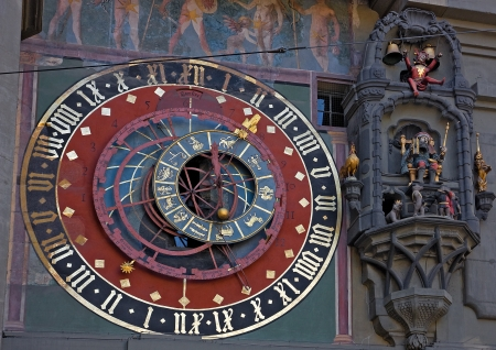 popular science: Old medieval astronomical clock in Bern, Switzerland
